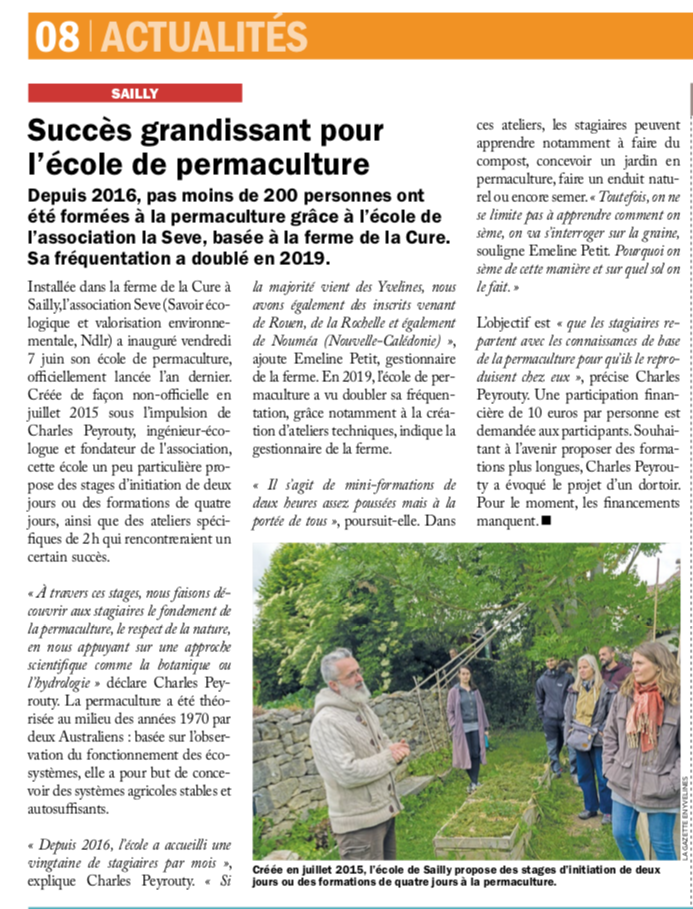 Article Gazette des Yvelines